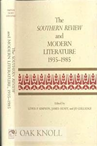 The Southern Review and Modern Literature, 1935-1985 (Southern Literary Studies) epub